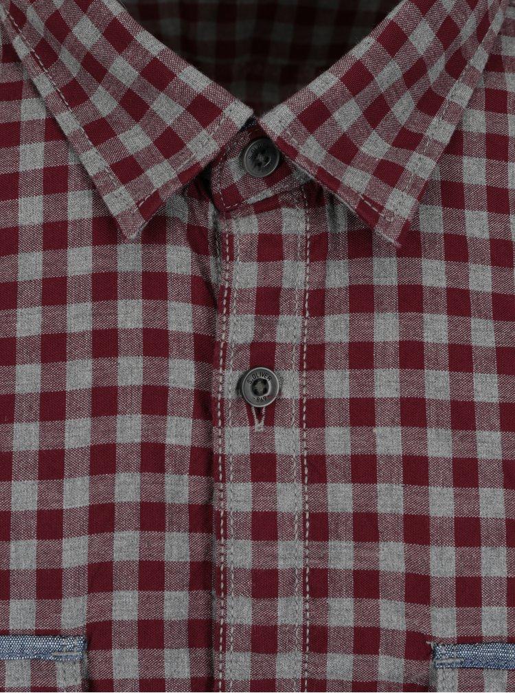 Vínová pánská regular košile s kapsami s.Oliver