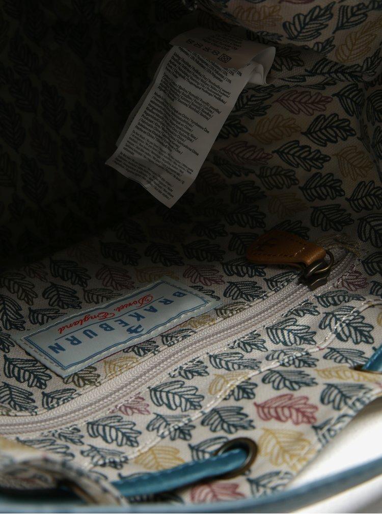 Tyrkysovo-krémová vzorovaná vaková kabelka Brakeburn