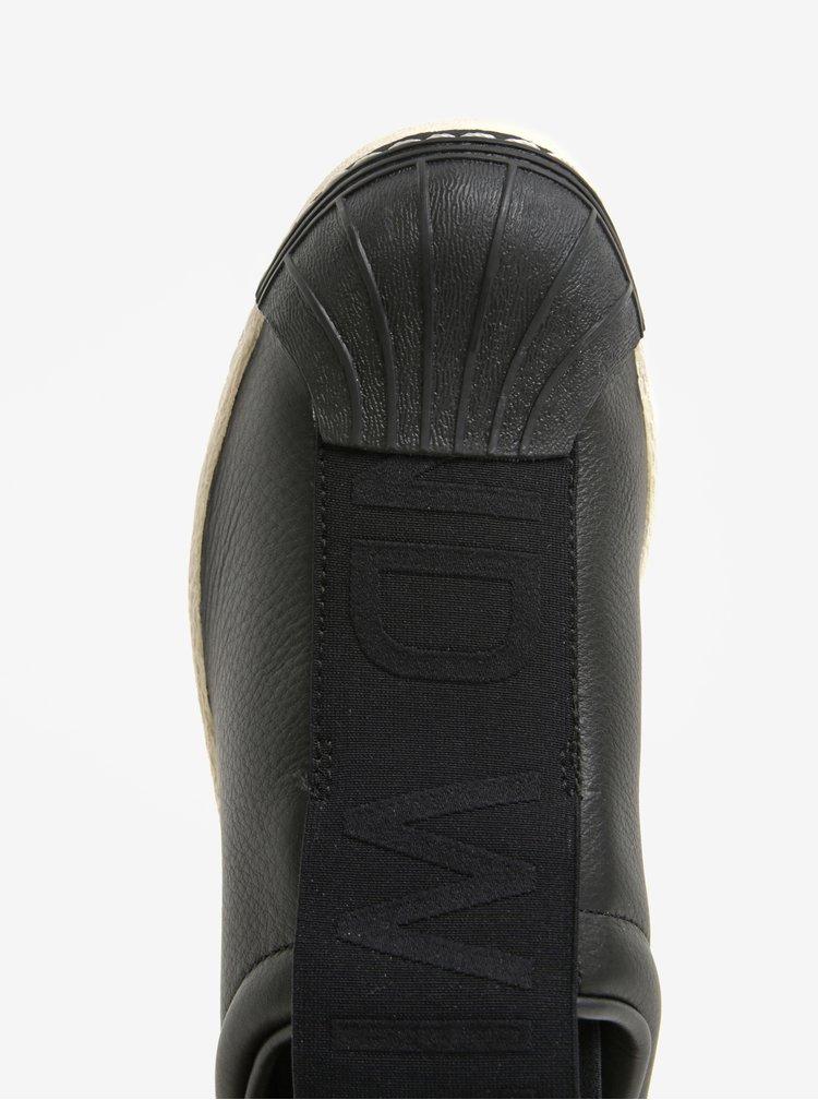 Černé dámské kožené slip on adidas Originals Superstar