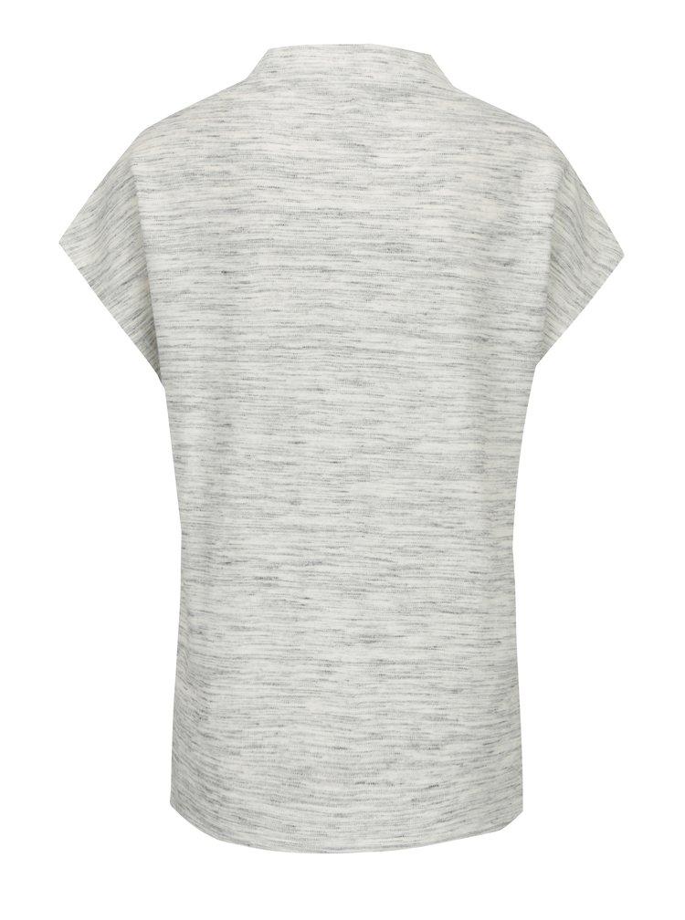 Krémové dámské žíhané tričko s.Oliver