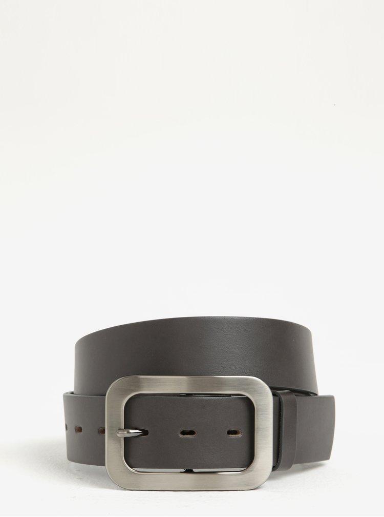 Tmavě šedý dámský kožený pásek KARA