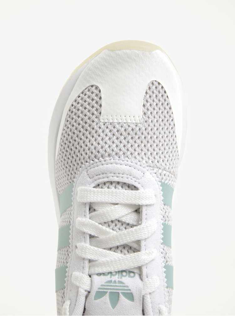 Bílé dámské perforované tenisky adidas Originals FLB
