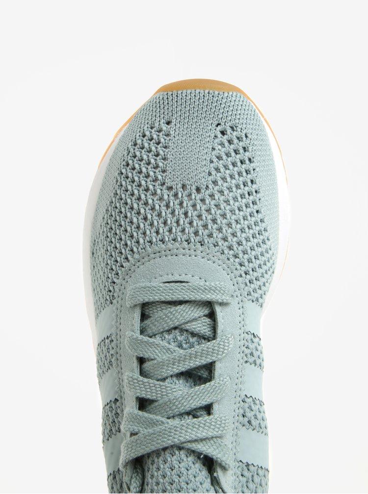 Mentolové dámské perforované tenisky s detaily adidas Originals FLB
