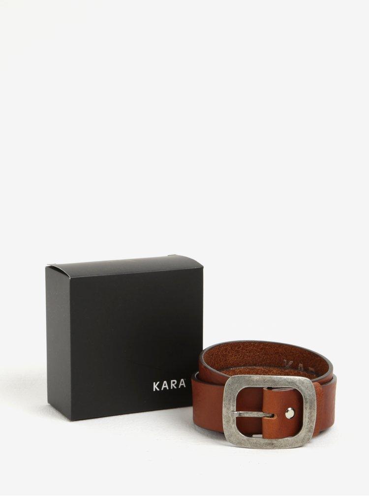 Hnědý dámský kožený pásek KARA