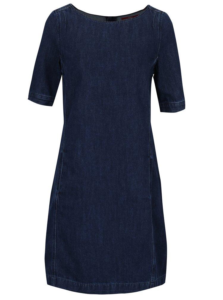 Tmavomodré dámske rifľové šaty s.Oliver
