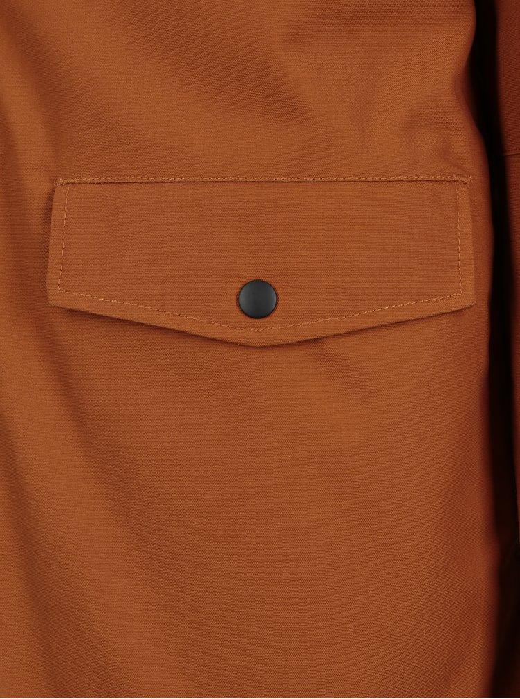 Geaca de iarna portocalie rezistenta la inghet pentru barbati RVLT