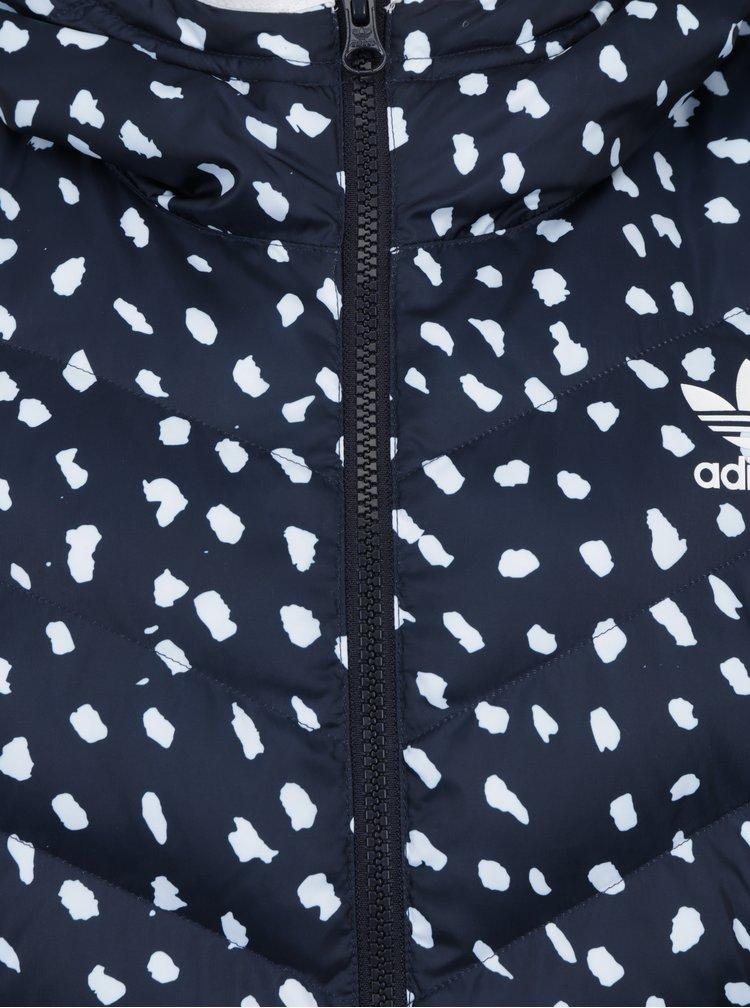 Bílo-modrá vzorovaná bunda adidas Originals Slim