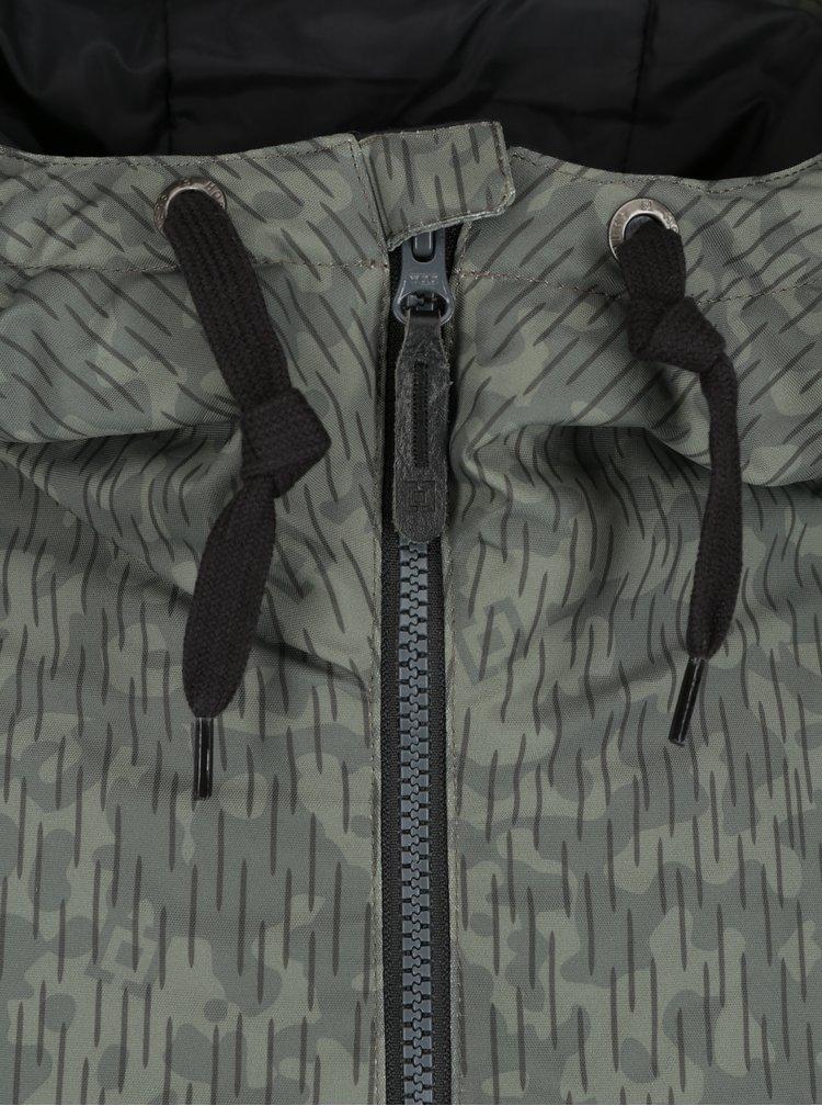 Černo-zelená pánská zimní bunda Horsefeathers Cline