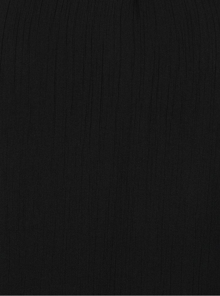 Černý top s průstřihy a aplikací VERO MODA Beadi