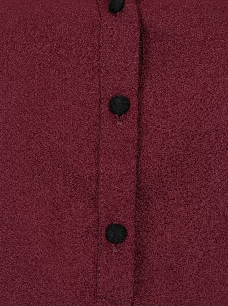 Vínová halenka s krajkovými detaily VERO MODA Sharpa
