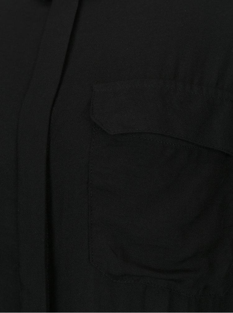 Černá košile s náprsními kapsami VERO MODA Koko