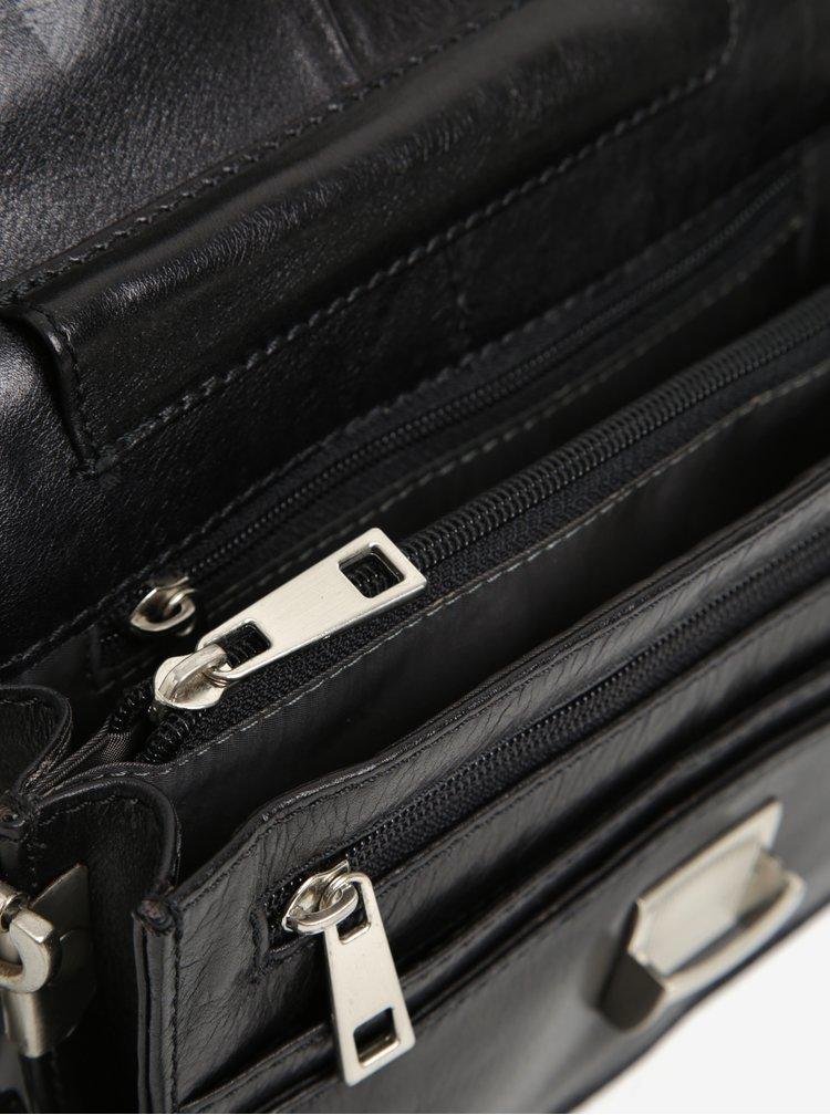 Černé pánské kožené pouzdro na klíček KARA