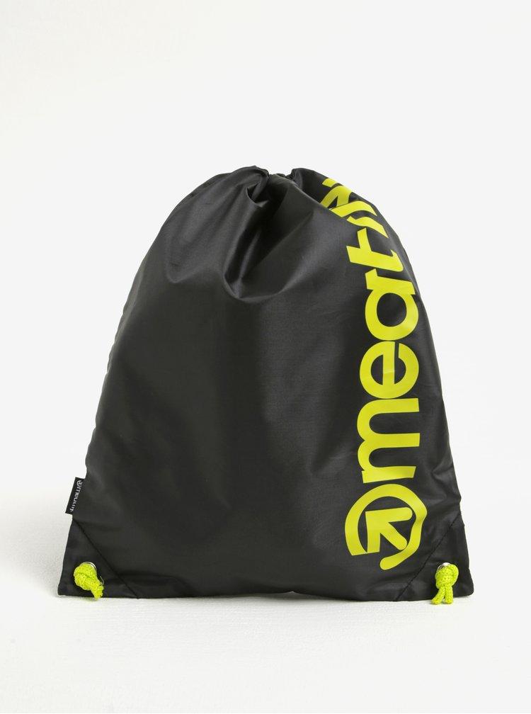 Rucsac negru&verde deschis cu print logo Meatfly Buck