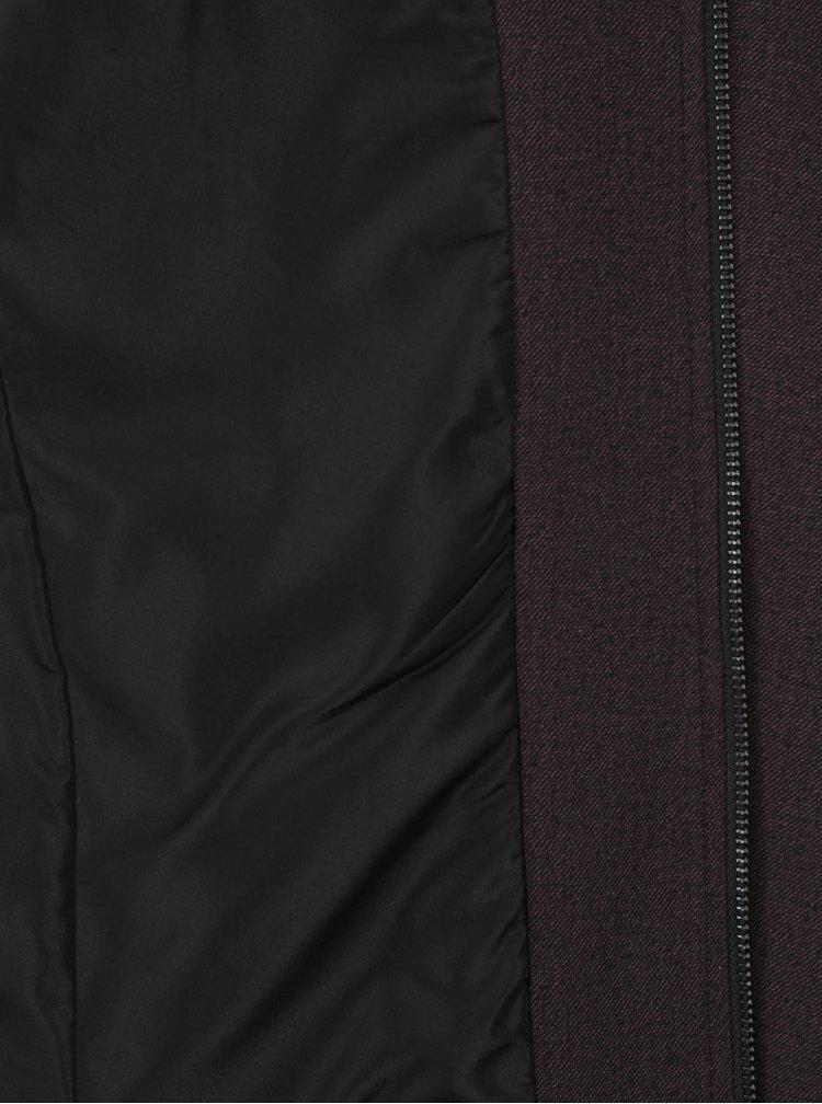 Vínový žíhaný slim fit bomber Jack & Jones Premium Robin