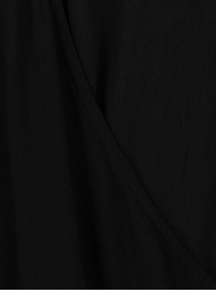 Černá halenka s překládaným výstřihem VERO MODA Misty