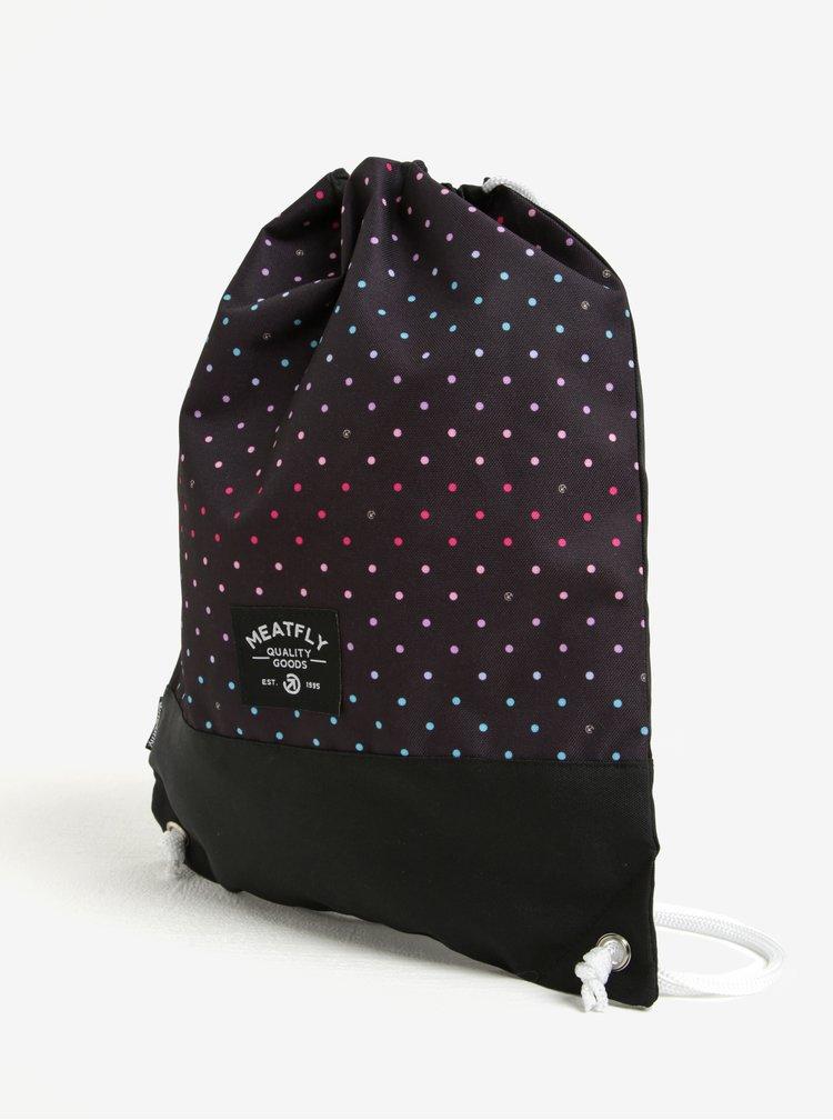 Rucsac negru cu print buline multicolore  Meatfly Dodge