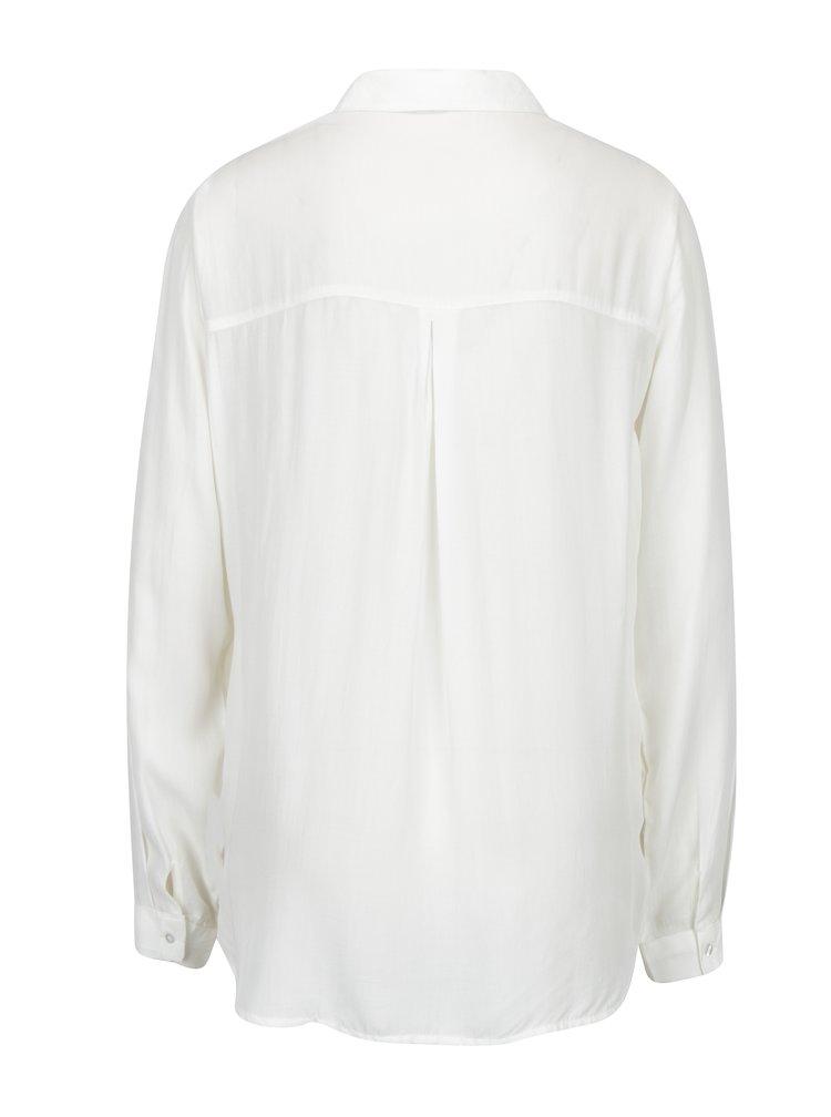 Krémová košile s náprsními kapsami VERO MODA Koko