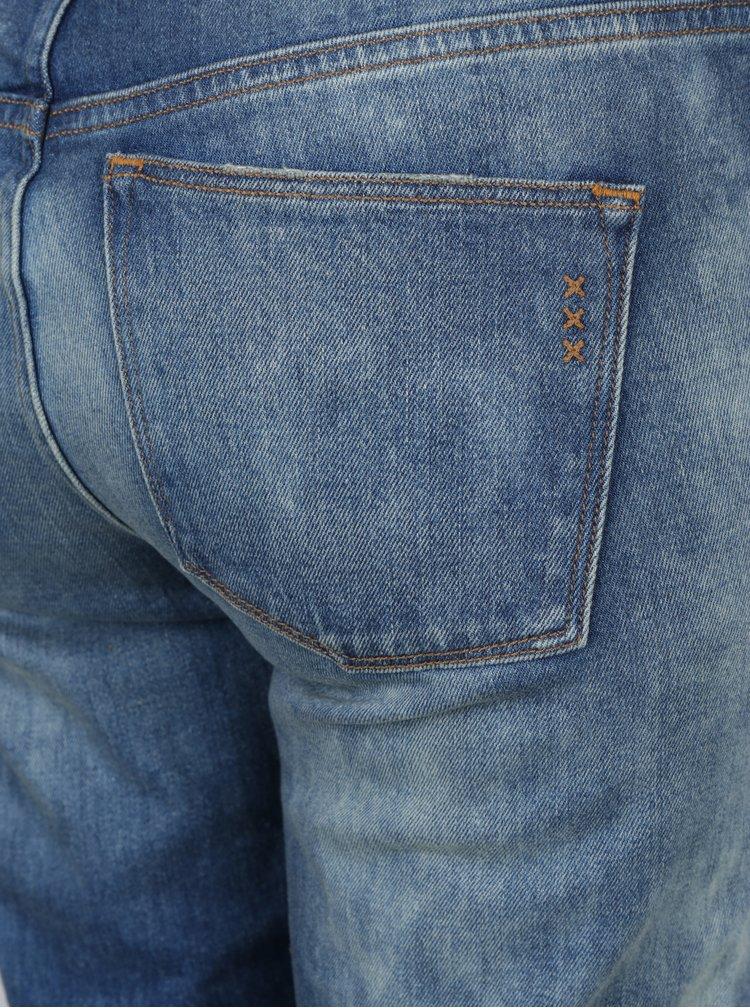 Modré slim džíny s vyšisovaným efektem Scotch & Soda