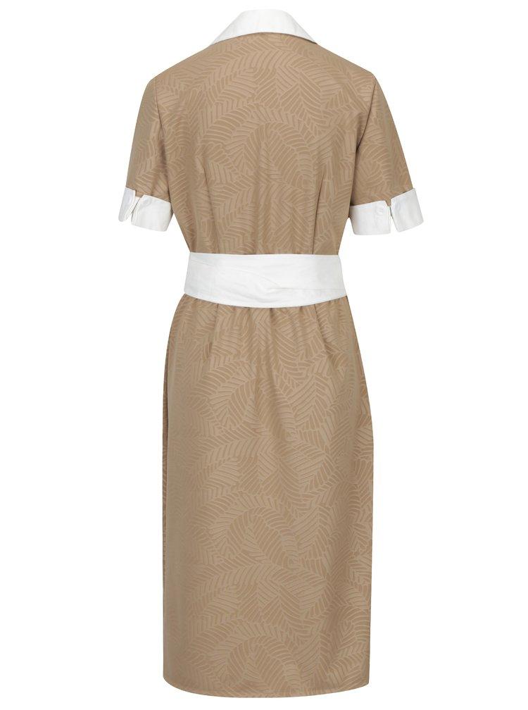 Béžové zavinovací šaty La femme MiMi