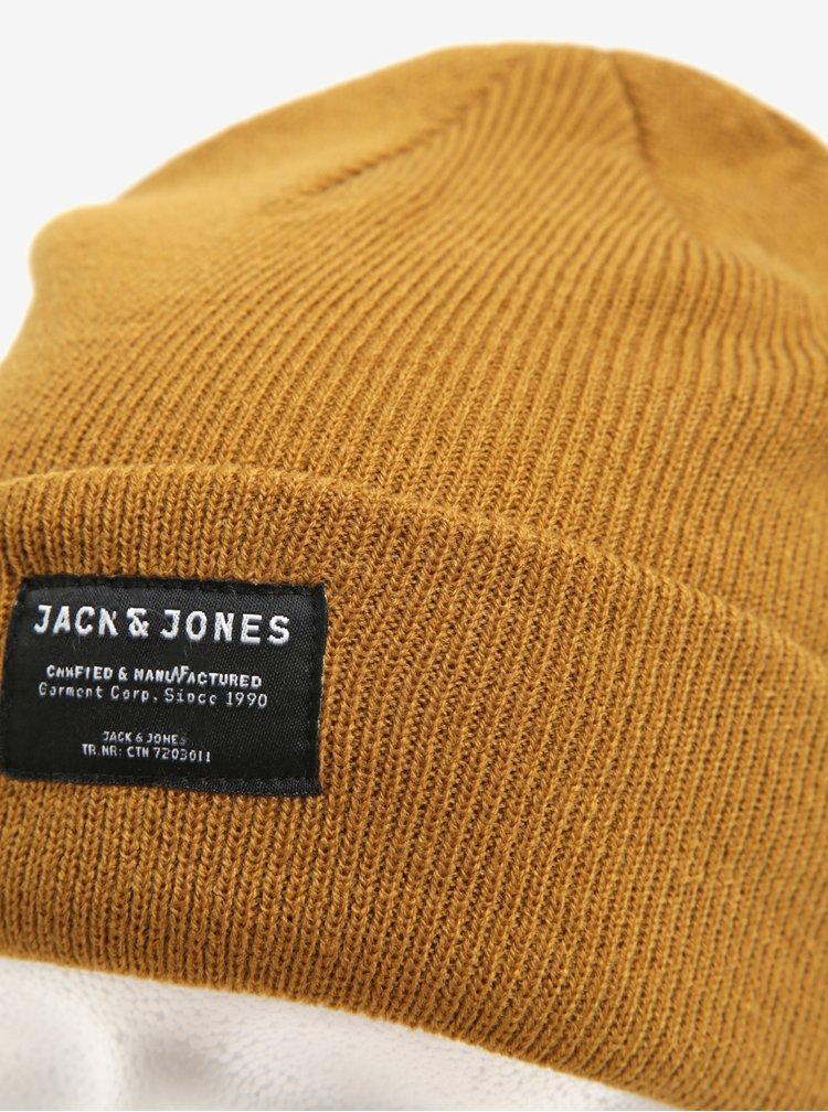Hořčicová čepice Jack & Jones Basic