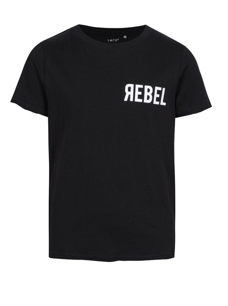 Černé klučičí tričko s potiskem na zádech LIMITED by name it Tohio