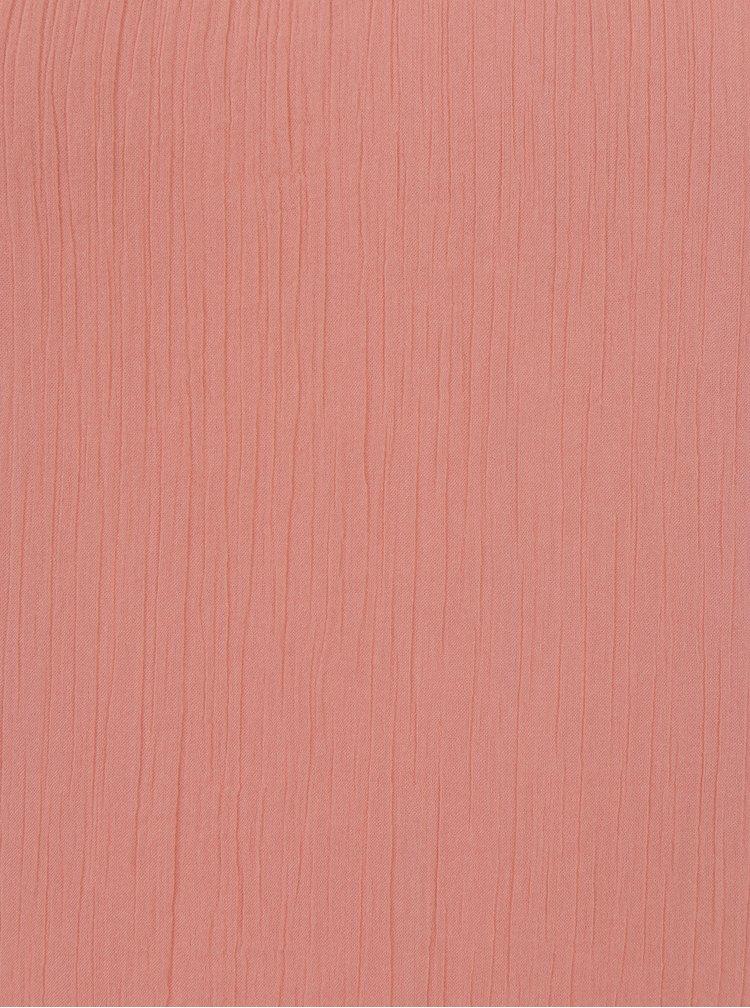 Růžový top s průstřihy a aplikací VERO MODA Beadi