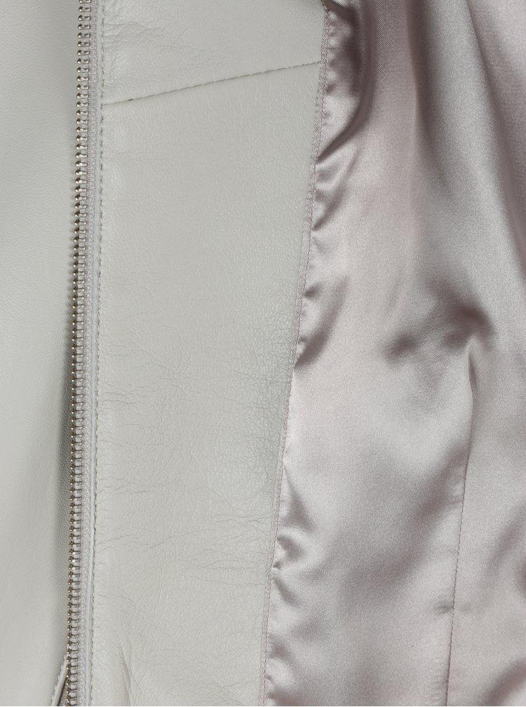 Krémová dámská kožená bunda KARA Di Maggio