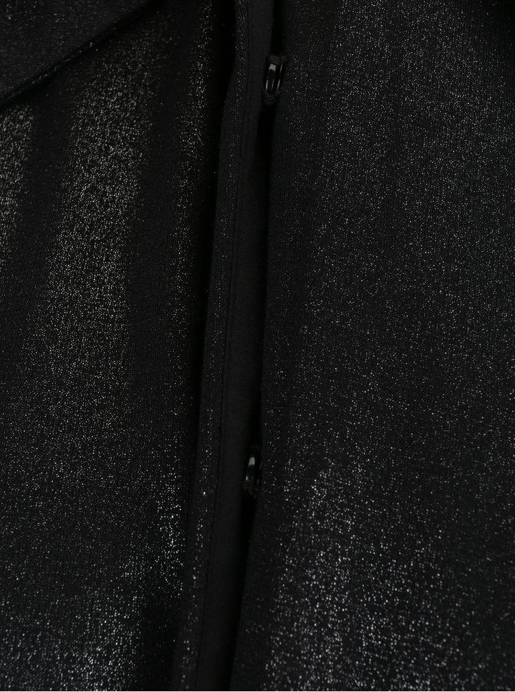 Černá dlouhá košile s metalickým vzorem La femme MiMi