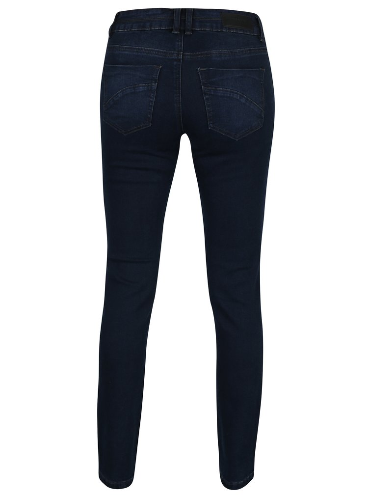 Tmavě modré straight fit džíny VERO MODA Tina
