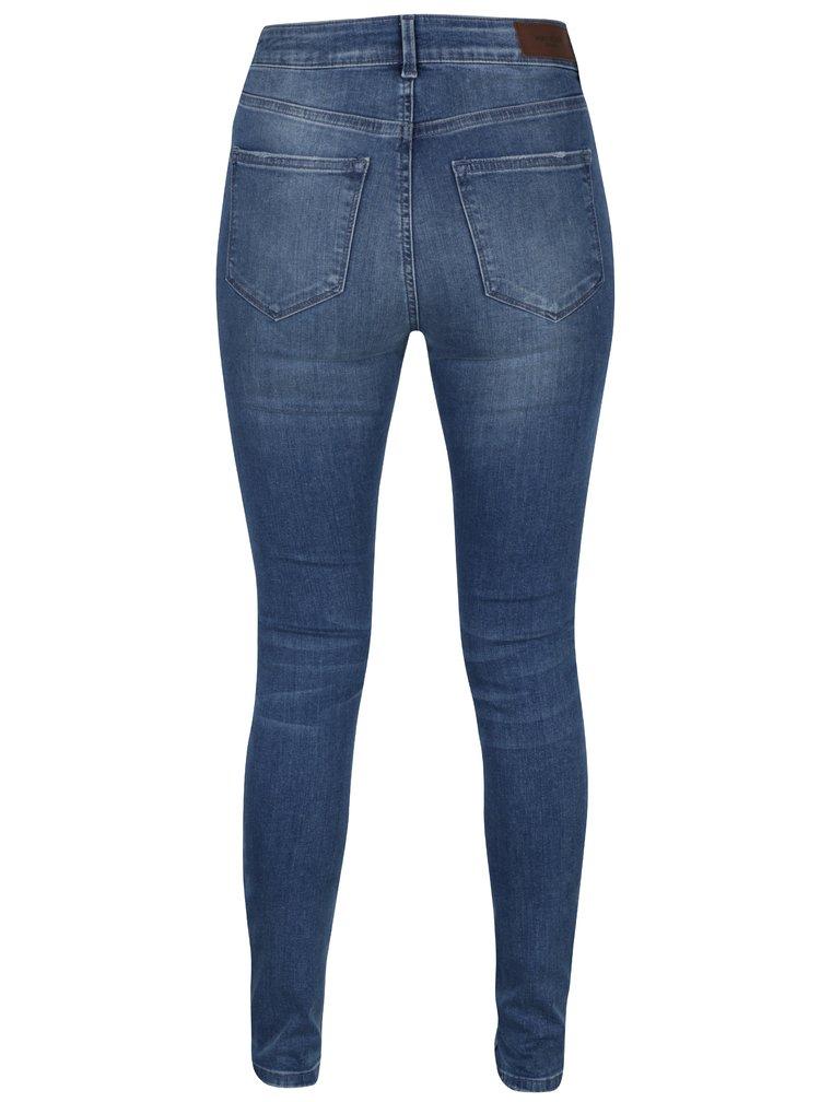 Světle modré slim fit džíny s potrhaným efektem VERO MODA Seven
