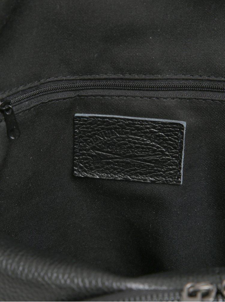 Rucsac mic negru din piele naturala pentru femei - KARA