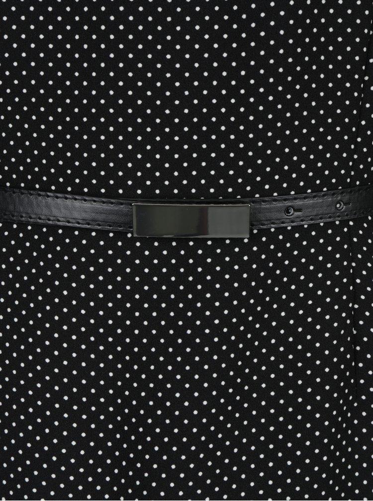 Rochie neagra cu print puncte si curea detasabila - VERO MODA Helen
