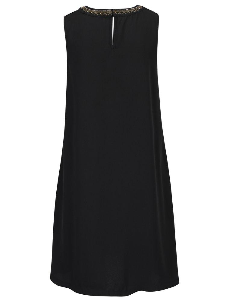 Černé šaty s korálkovou aplikací VERO MODA June Bead