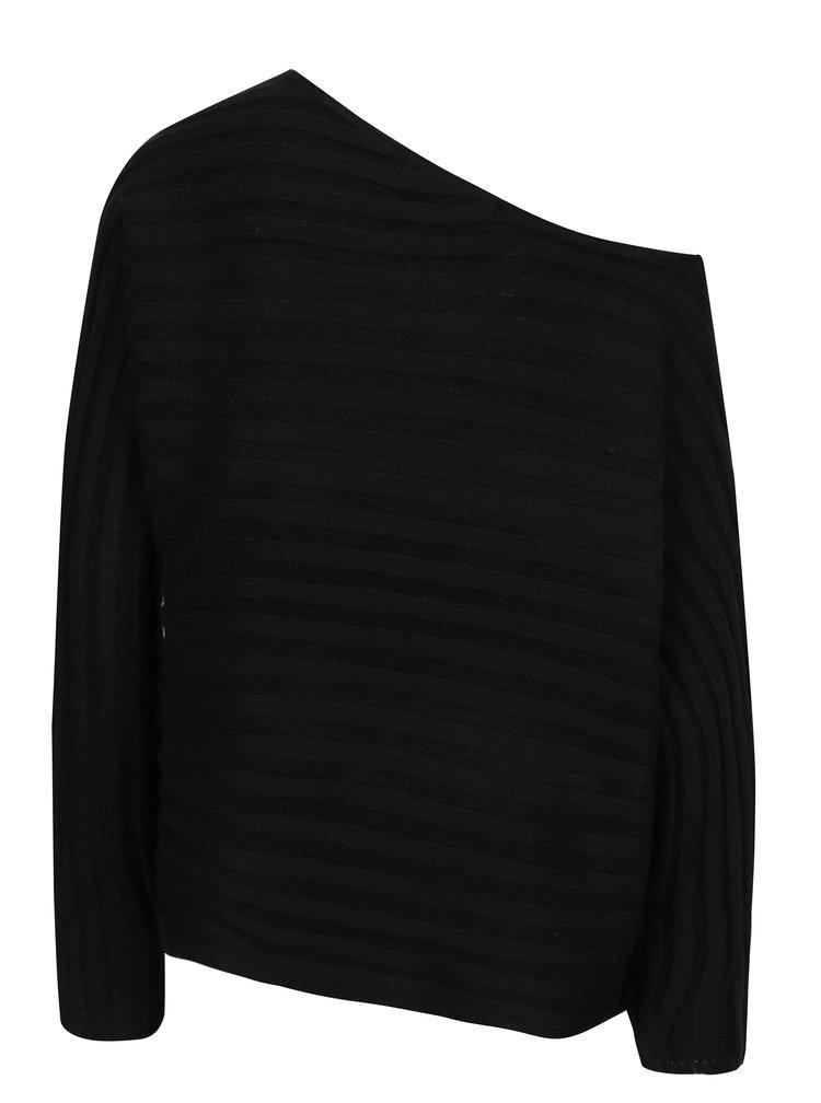 Černý žebrovaný svetr VERO MODA Clearlake