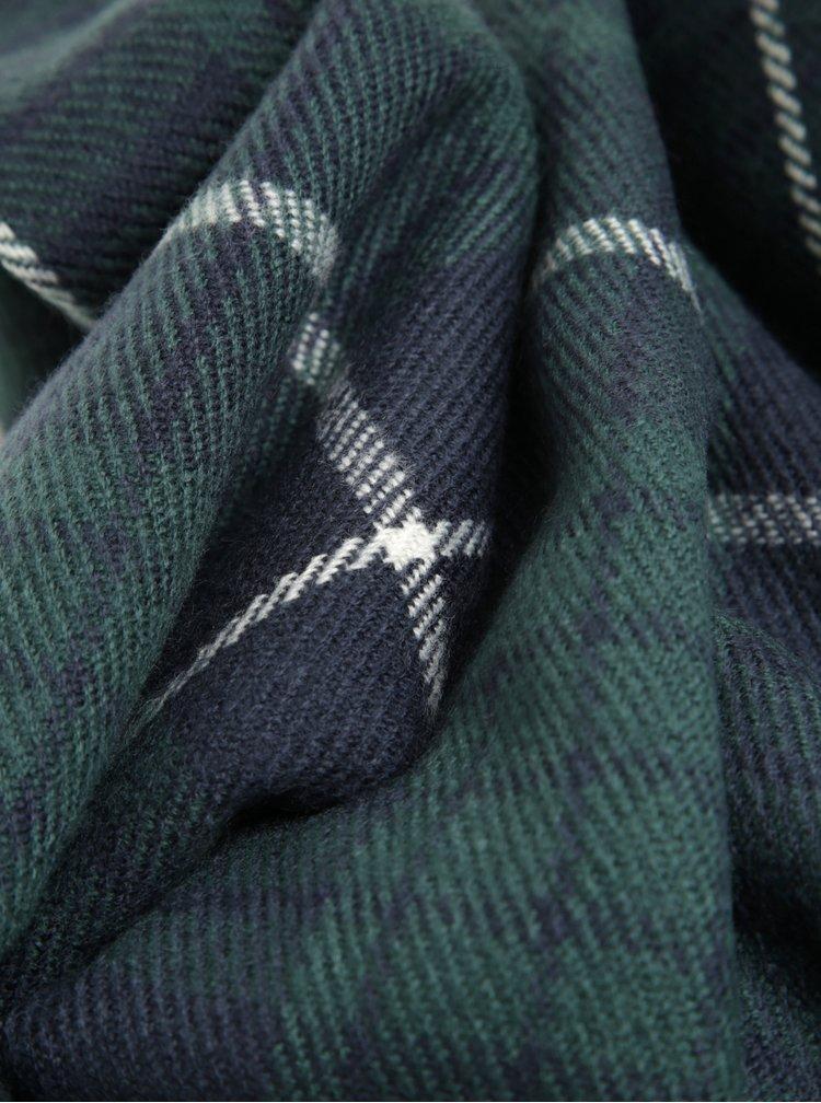 Modro-zelená kostkovaná šála Jack & Jones Danny