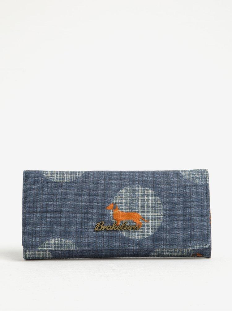 Tmavě modrá peněženka s motivem psa Brakeburn