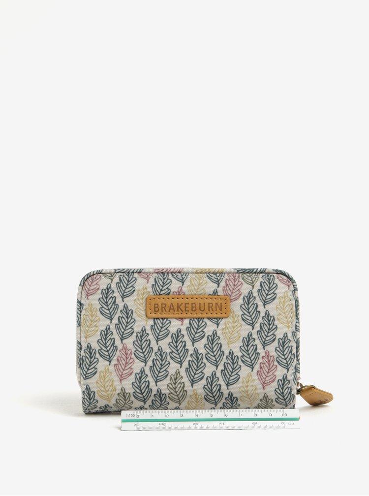 Tyrkysovo-krémová vzorovaná peněženka Brakeburn