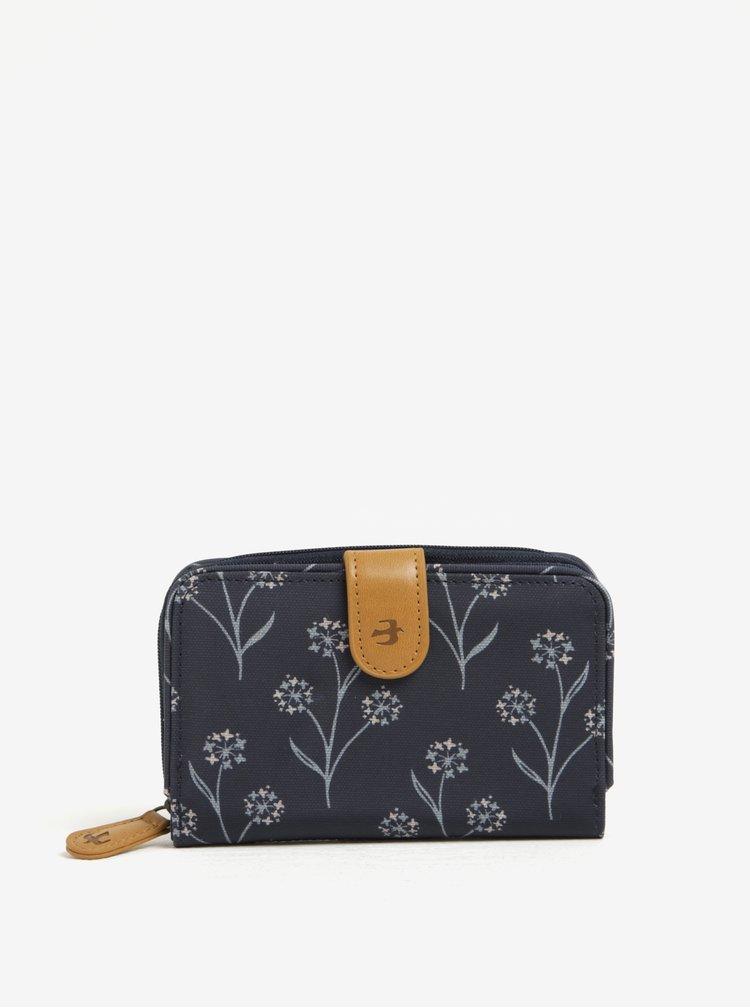 Portofel bleumari cu model floral stilizat  Brakeburn