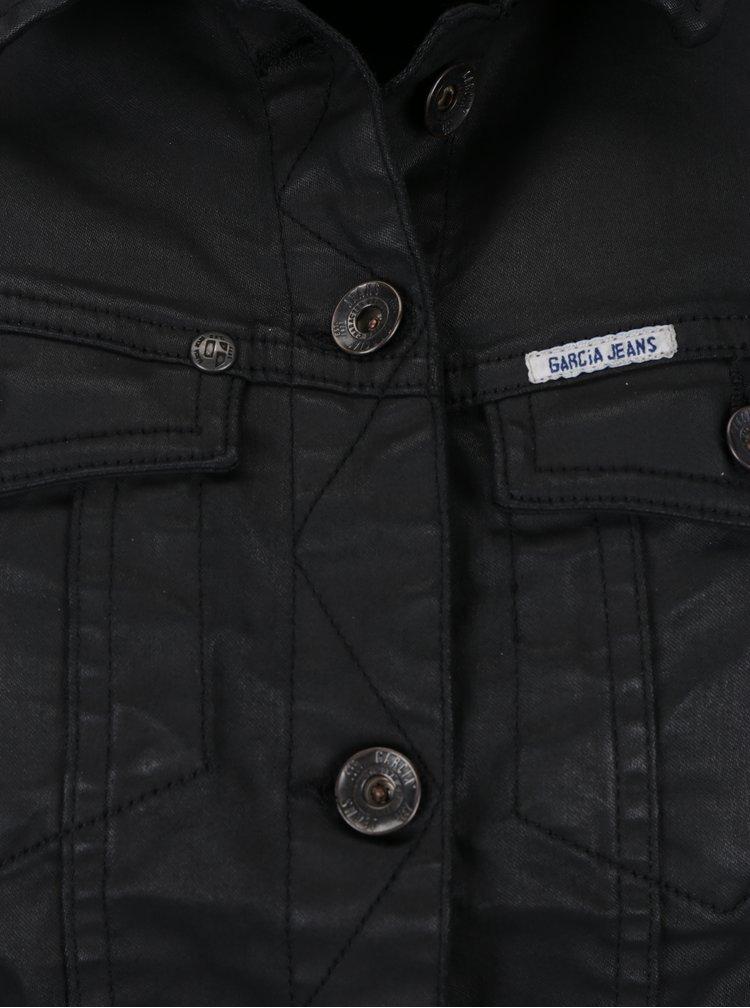 Jacheta neagra cu aspect de piele pentru femei  - Garcia Jeans  Sofia