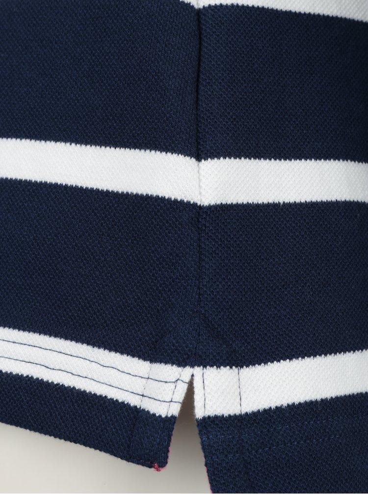 Tmavě modrá pruhovaná mikina Brakeburn