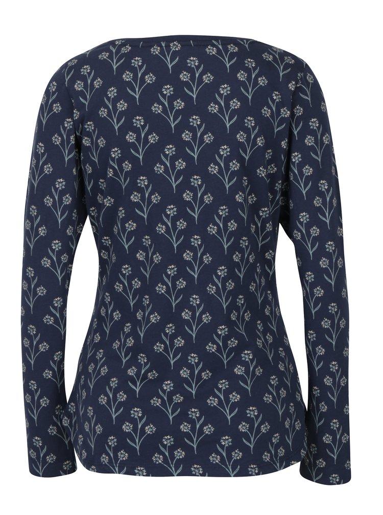 Bluza bleumarin&crem cu print floral Brakeburn