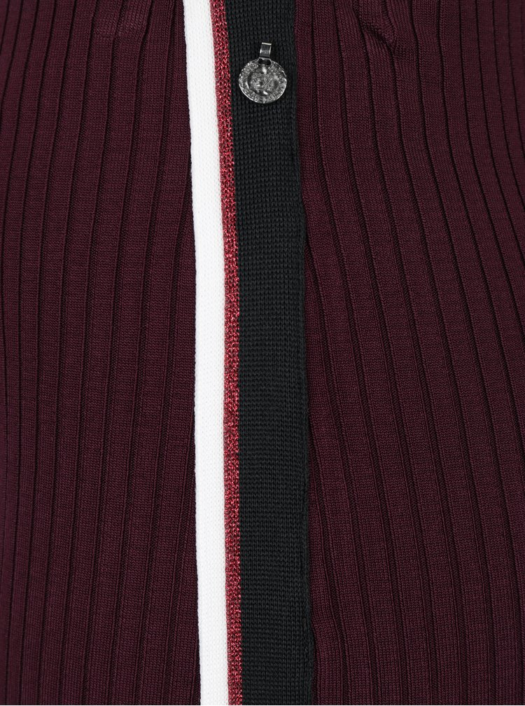 Fusta bordo cu dungi in relief si detaliu decorativ lateral Scotch & Soda