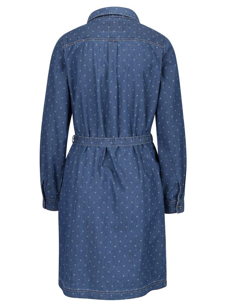 Modré košilové šaty s páskem Brakeburn