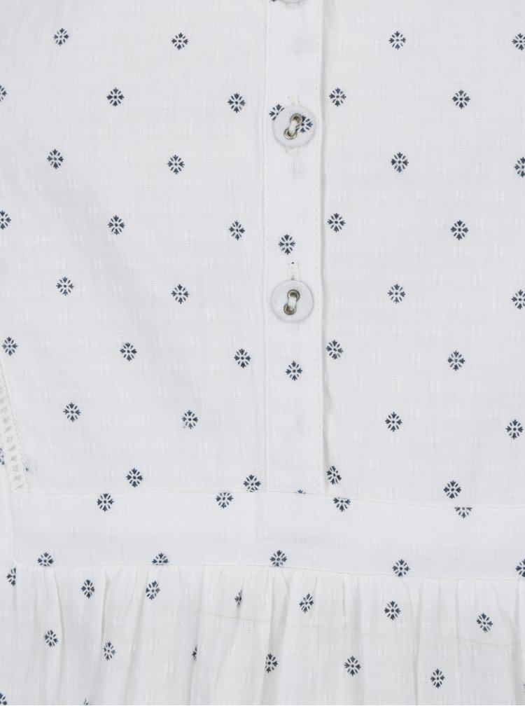 Bílá vzorovaná halenka Brakeburn