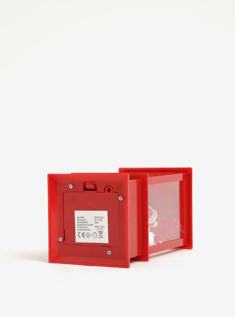 Červená hrací LED lucerna Kaemingk