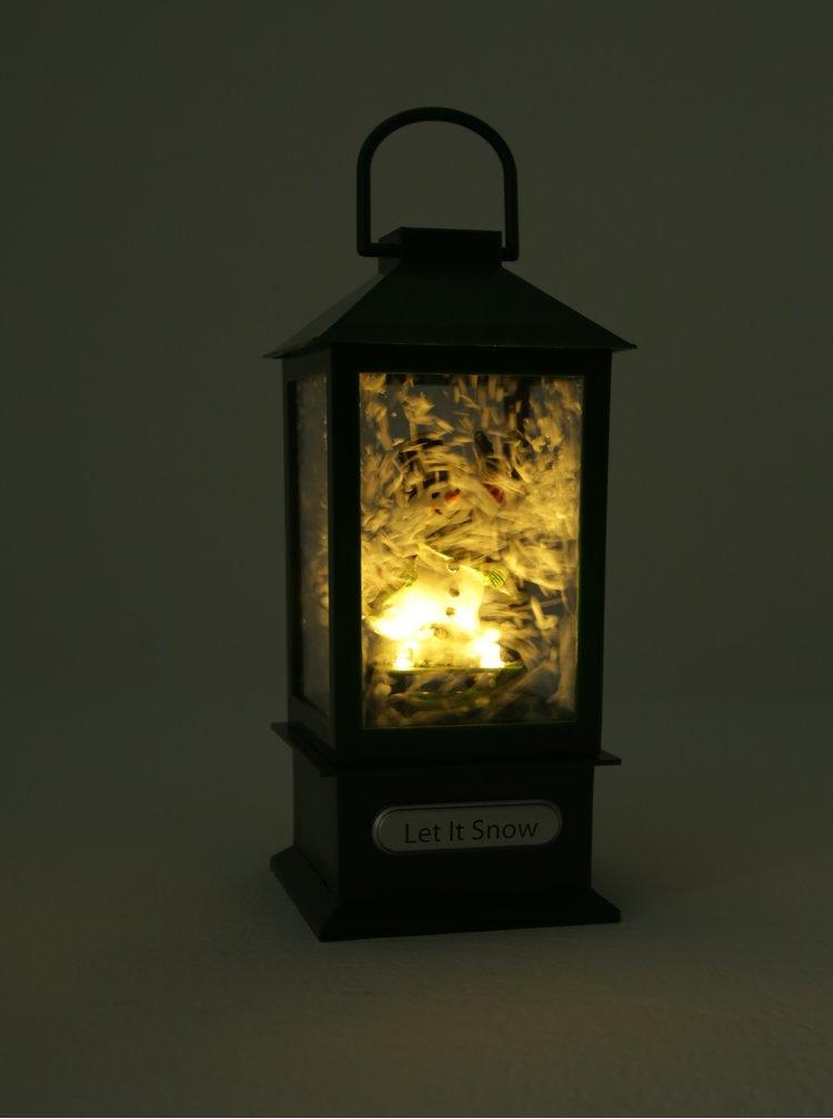 Zelená hrací LED lucerna Kaemingk