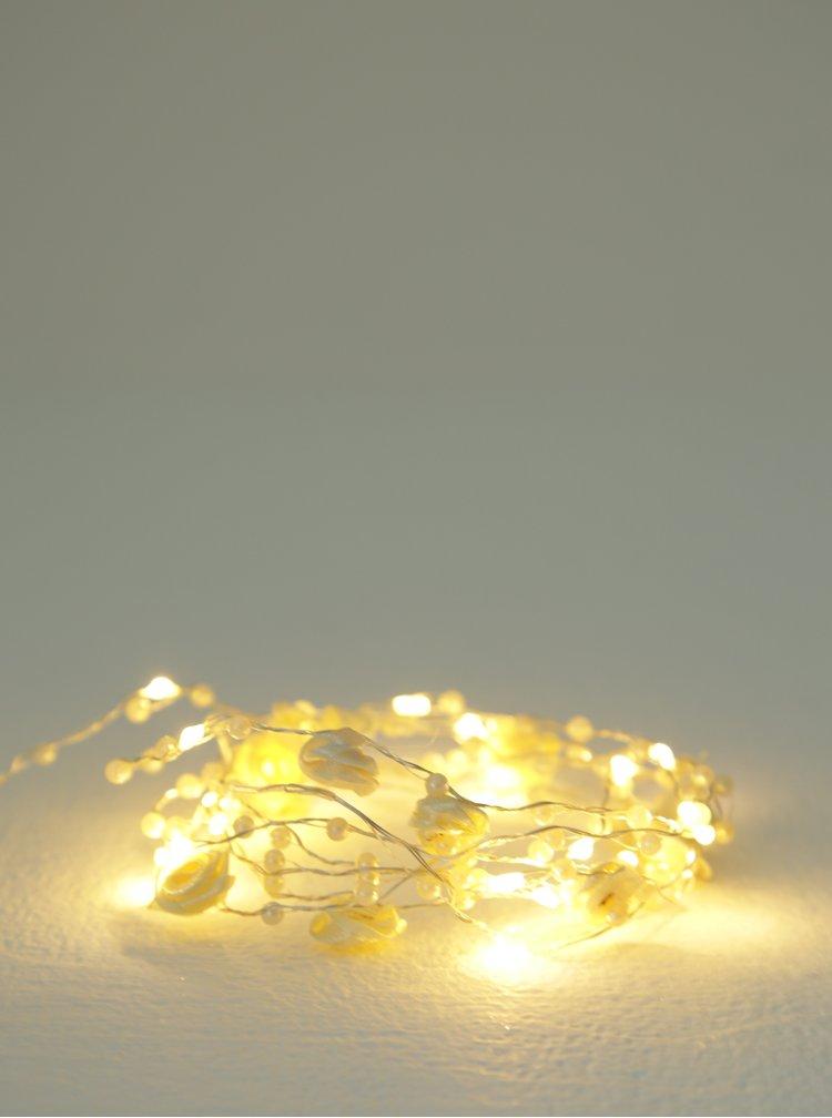Světelný LED řetěz s umělými květy Kaemingk