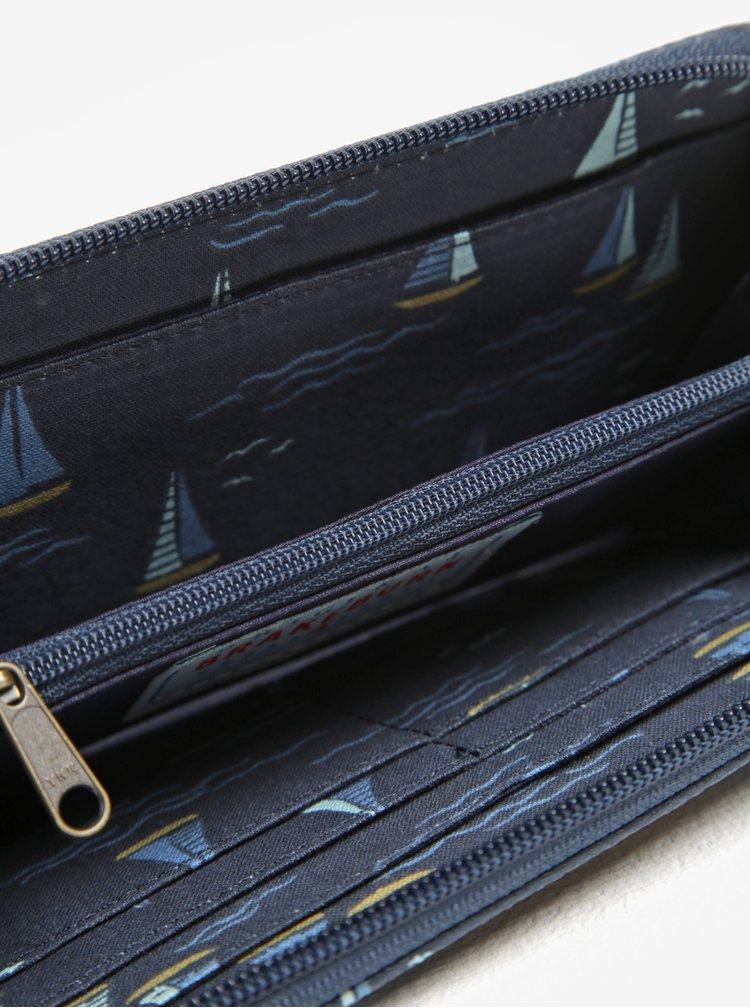 Portofel bleumarin cu print - Brakeburn