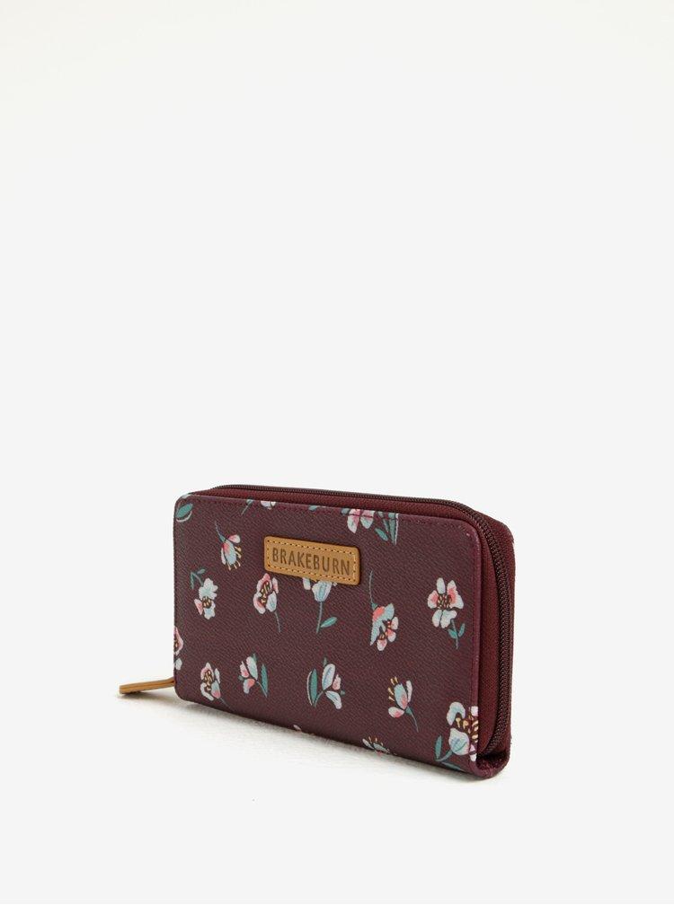 Vínová květovaná peněženka Brakeburn