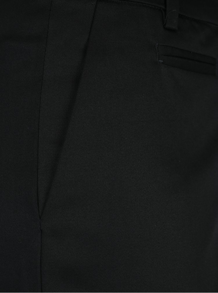 Černé zkrácené chino kalhoty Selected Femme Audrey